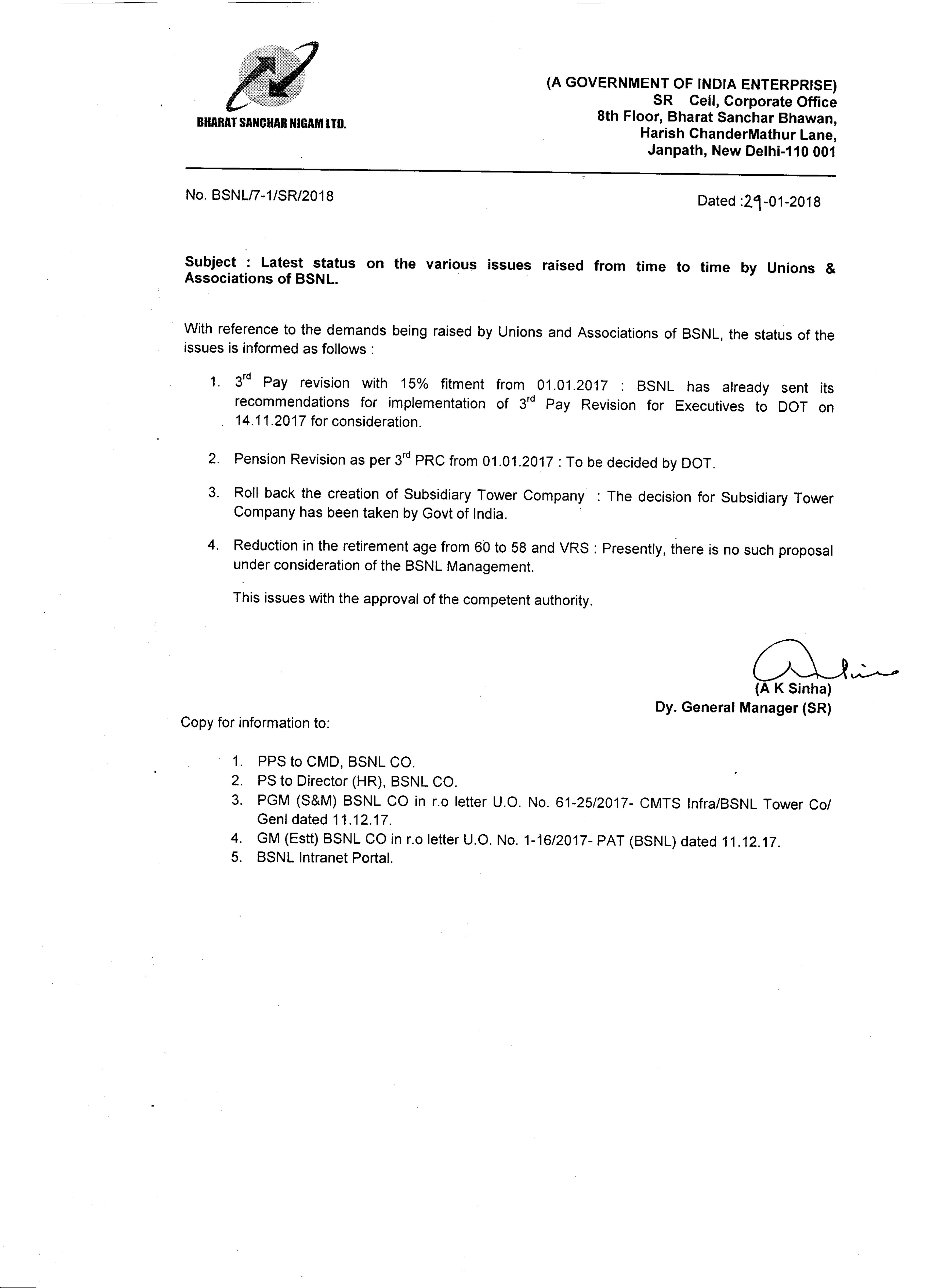 Nfte chennai telephones corportate office letter on issues raised by unions and association of bsnl aiddatafo Choice Image